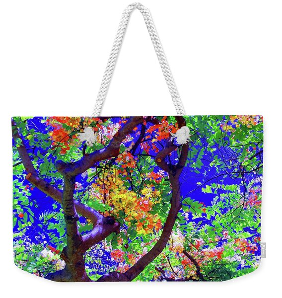 Hawaii Shower Tree Flowers Weekender Tote Bag