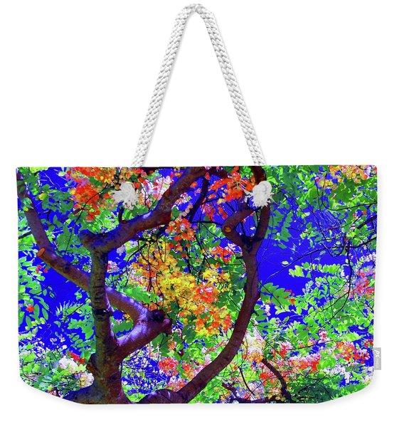 Hawaii Shower Tree Flowers Weekender Tote Bag