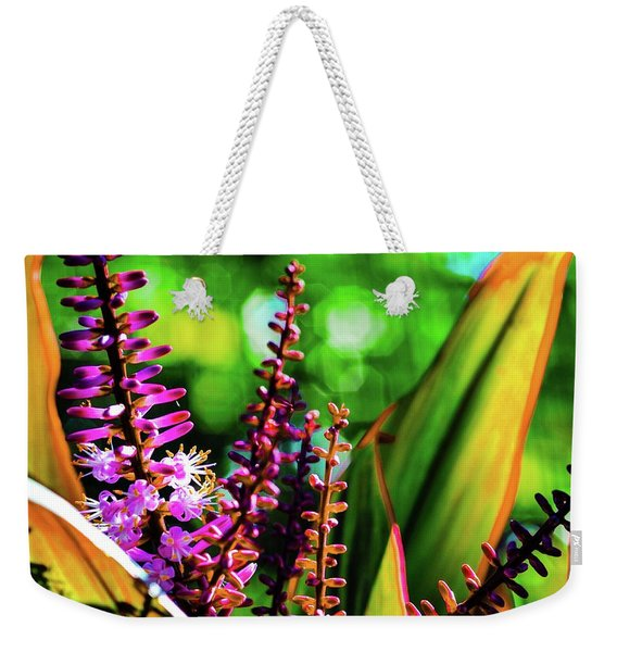 Hawaii Ti Leaf Plant And Flowers Weekender Tote Bag