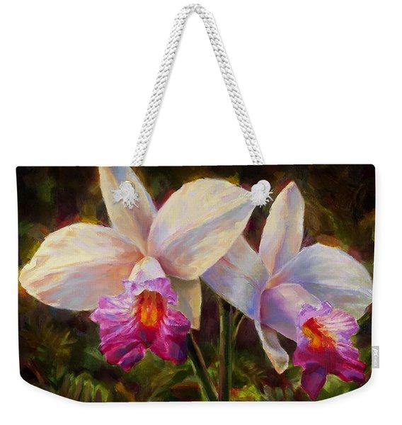 Hawaiian Bamboo Orchid Weekender Tote Bag