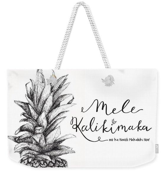 Hawaiian Christmas Weekender Tote Bag