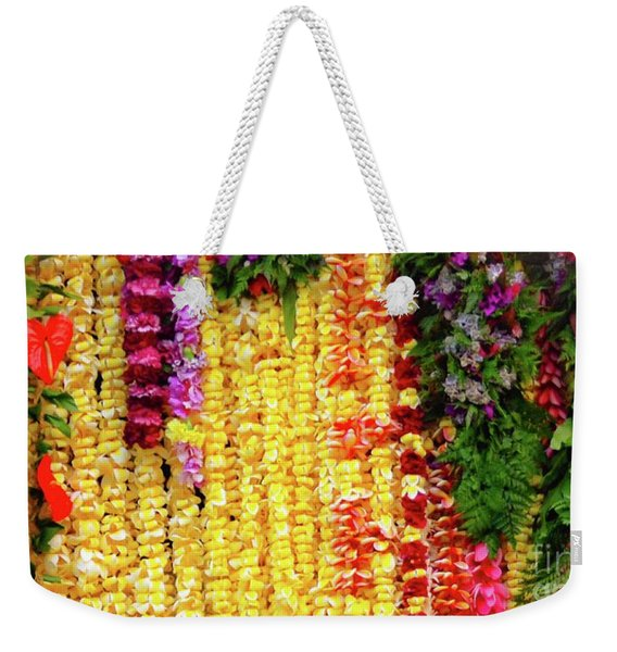 Hawaiian Flower Lei's Weekender Tote Bag