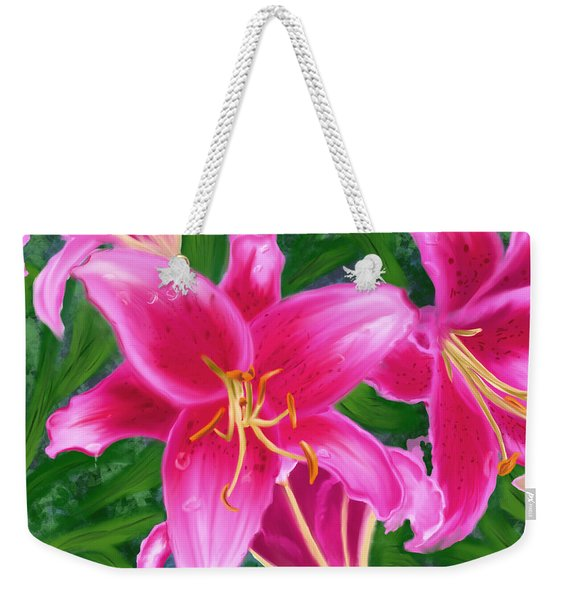 Hawaiian Flowers Weekender Tote Bag