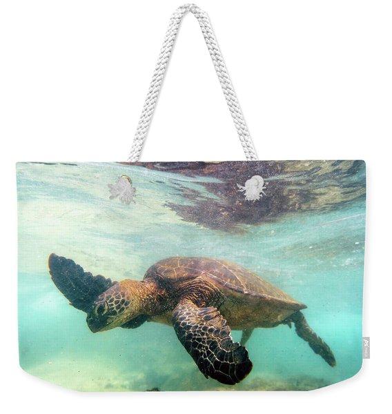 Hawaiian Green Sea Turtle Weekender Tote Bag