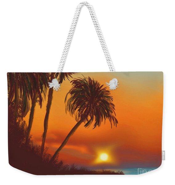 Hawaiian Sunset Weekender Tote Bag