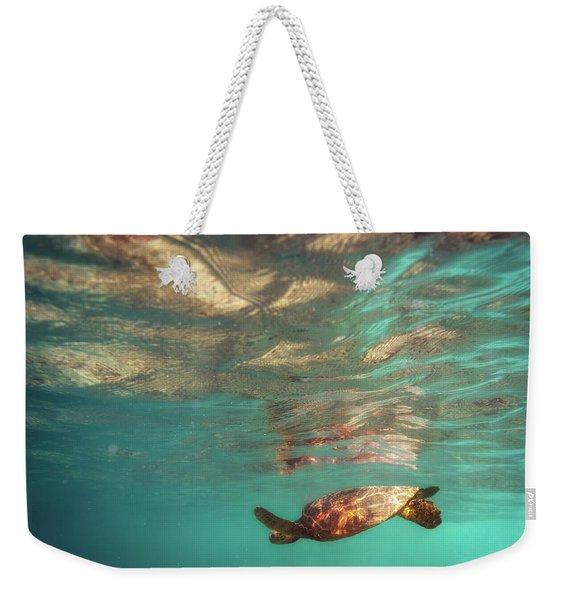 Hawaiian Turtle Weekender Tote Bag