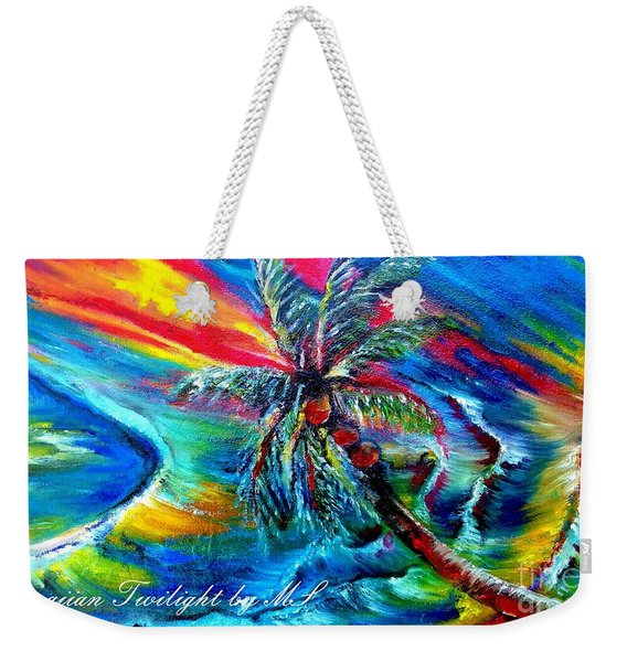 Hawaiian Twilight Weekender Tote Bag
