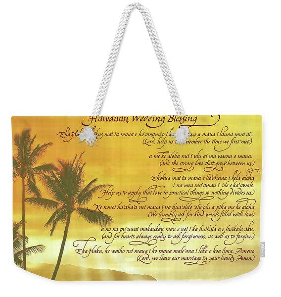 Hawaiian Wedding Blessing-sunset Weekender Tote Bag