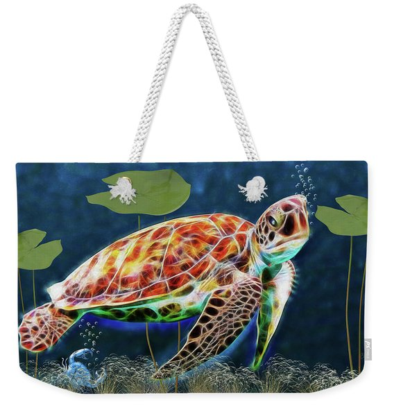 Hawksbill Sea Turtle Weekender Tote Bag