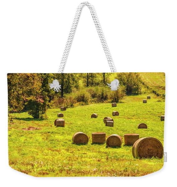 Hay Bales 2 Weekender Tote Bag