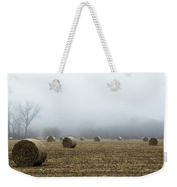 Hay Bales In A Field Weekender Tote Bag