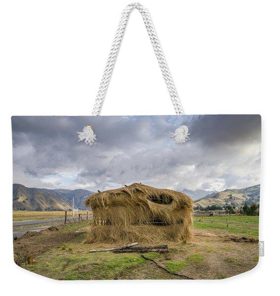 Hay Hut In Andes Weekender Tote Bag