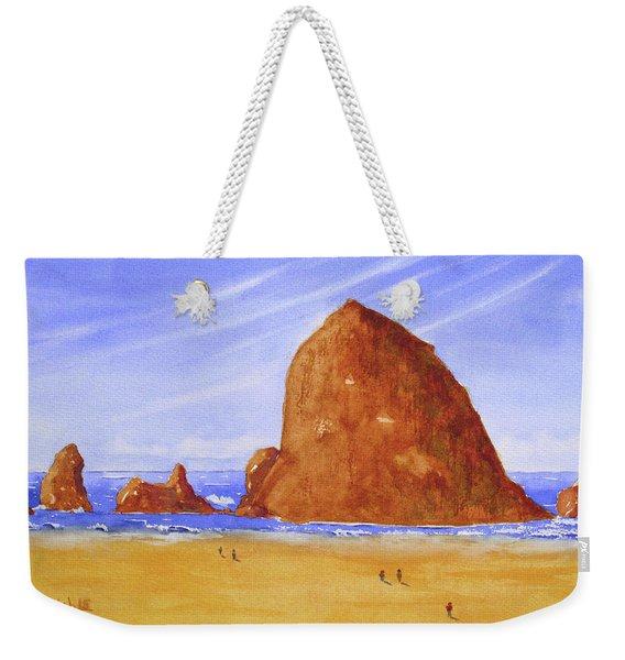 Hay Stack Rock Weekender Tote Bag