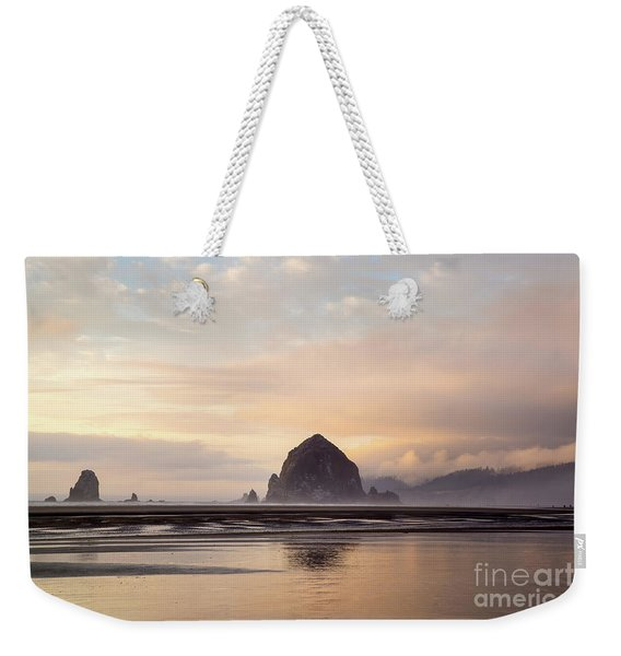 Haystack Rock After The Rain Weekender Tote Bag