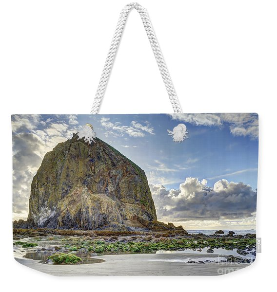 Haystack Rock At Low Tide Hdr Weekender Tote Bag