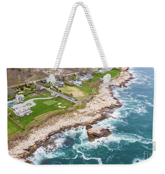 Hazard Rocks, Narragansett  Weekender Tote Bag