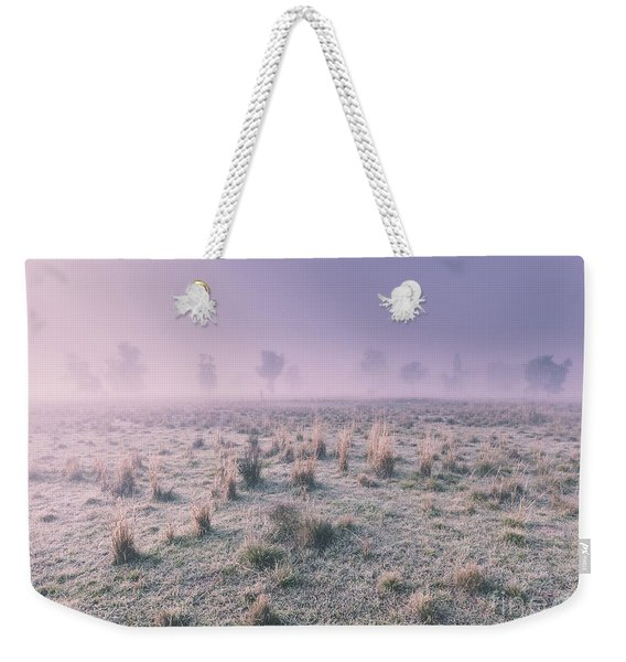 Hazy Australian Winter Scene Weekender Tote Bag