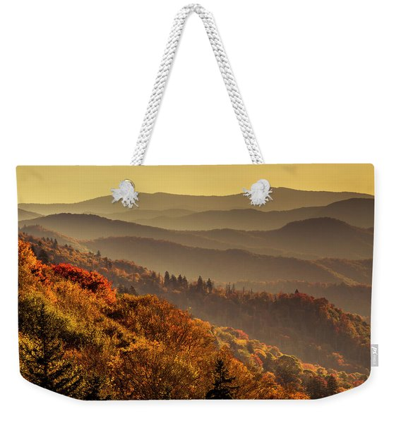 Hazy Sunny Layers In The Smoky Mountains Weekender Tote Bag