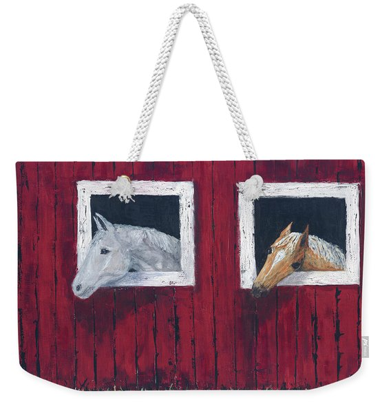 He And She Weekender Tote Bag