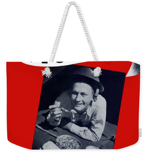 He Eats A Ton A Year Weekender Tote Bag