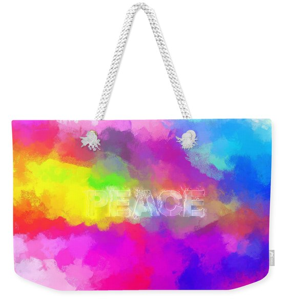 He Gives A Powerful Peace Weekender Tote Bag