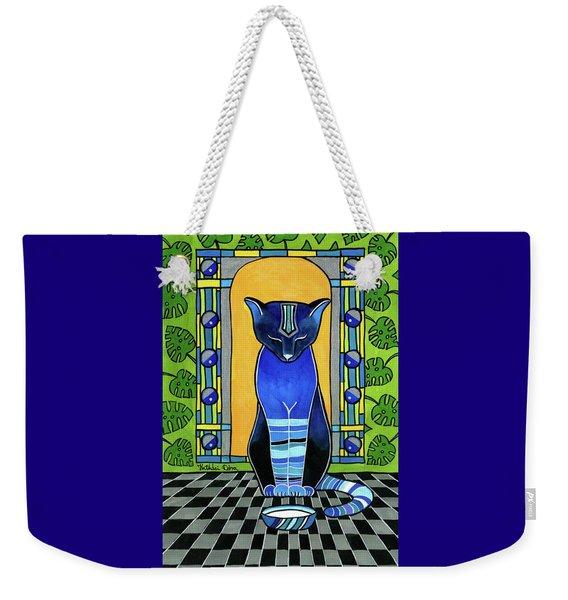 He Is Back - Blue Cat Art Weekender Tote Bag