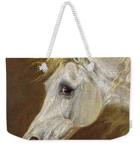 Head Of A Grey Arabian Horse  Weekender Tote Bag