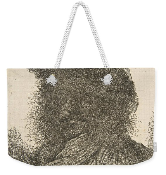 Head Of A Man In Shadow Turned Slightly To The Left Weekender Tote Bag