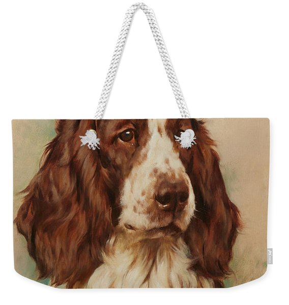 Head Of An English Springer Spaniel Weekender Tote Bag