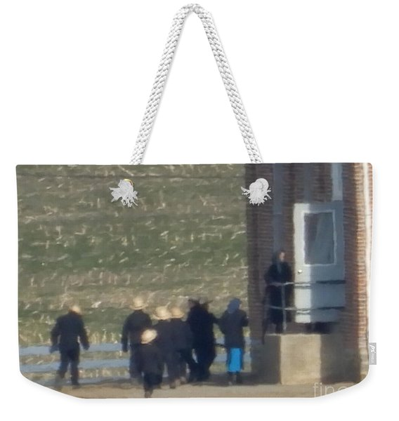 Heading Into The Schoolhouse Weekender Tote Bag