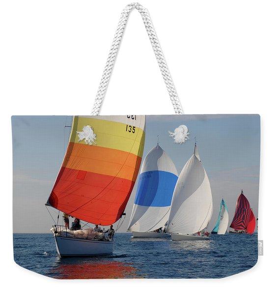 Heading Towind Windward Mark Weekender Tote Bag
