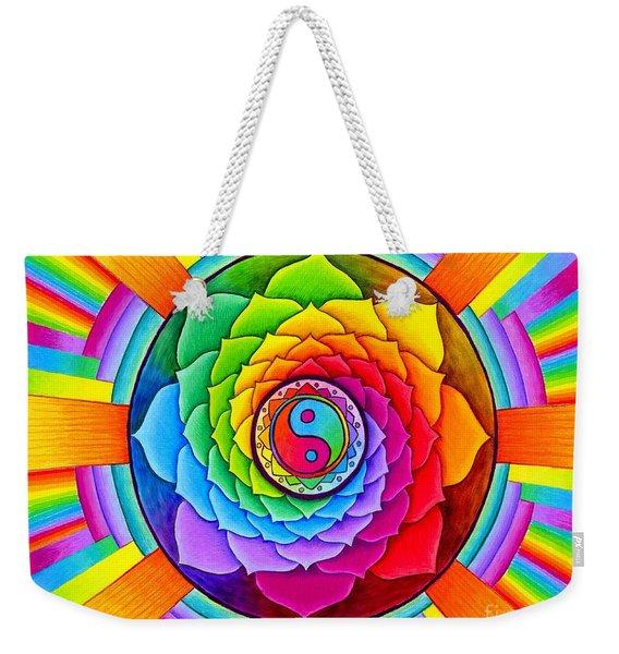 Healing Lotus Weekender Tote Bag