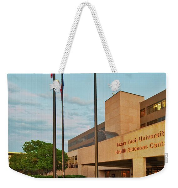 Weekender Tote Bag featuring the photograph Health Sciences Medical Center by Mae Wertz