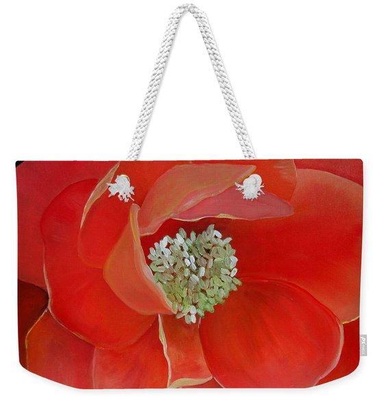 Heart-centered Rose Weekender Tote Bag