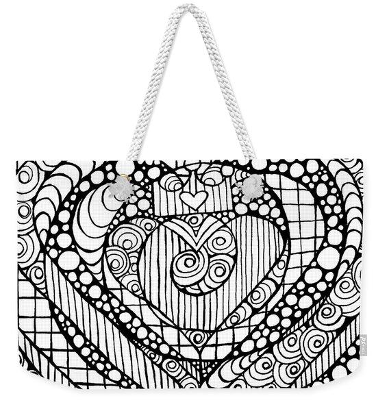 Heart Crown Tangle Weekender Tote Bag