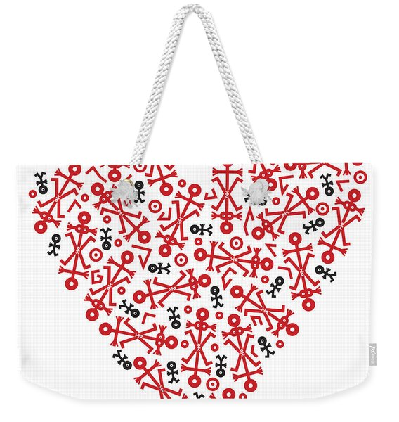 Heart Icon Weekender Tote Bag