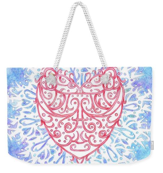 Heart In A Snowflake II Weekender Tote Bag