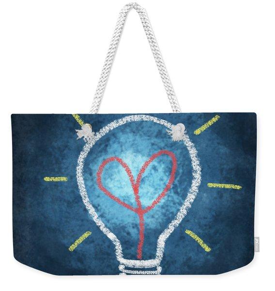 Heart In Light Bulb Weekender Tote Bag