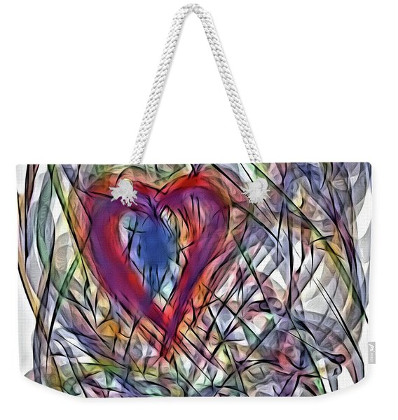 Heart In Motion Abstract Weekender Tote Bag