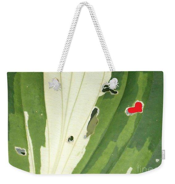 Heart In Nature Weekender Tote Bag