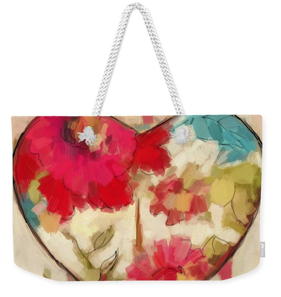Heart In Stitches Weekender Tote Bag