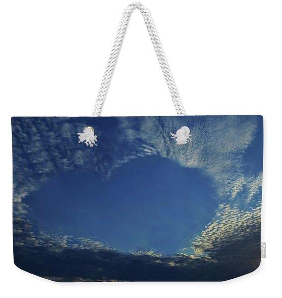 Heart In The Sky Weekender Tote Bag