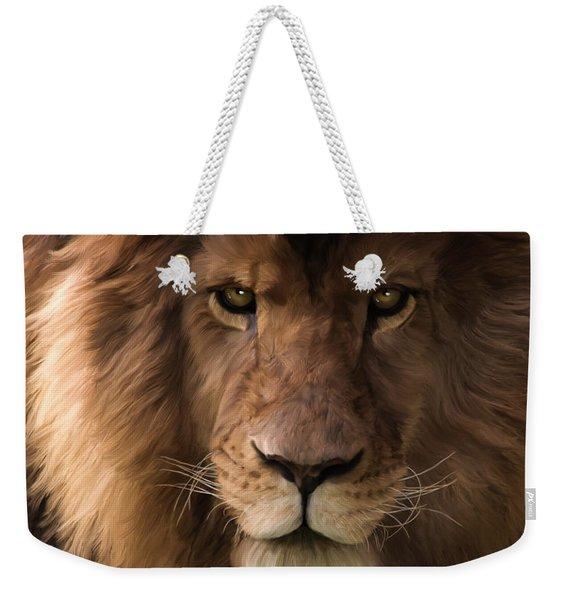 Heart Of A Lion - Wildlife Art Weekender Tote Bag