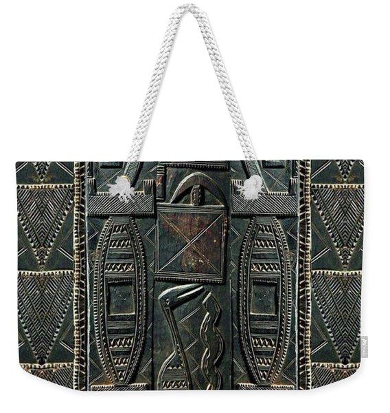 Weekender Tote Bag featuring the digital art Heart Of Africa by Lora Serra