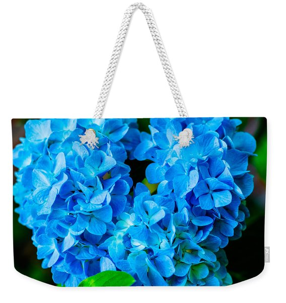 Heart Of Blue Weekender Tote Bag