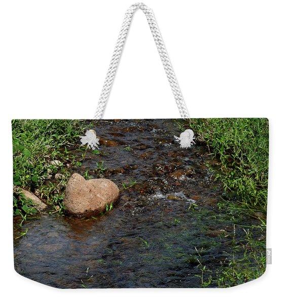 Heart Of The Stream Weekender Tote Bag