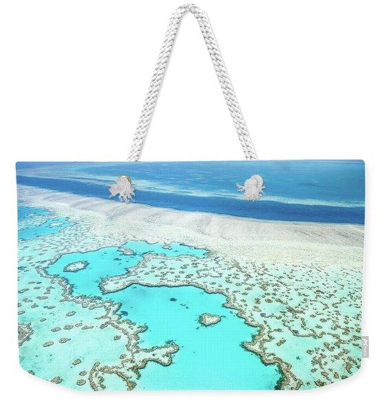 Heart Reef Weekender Tote Bag