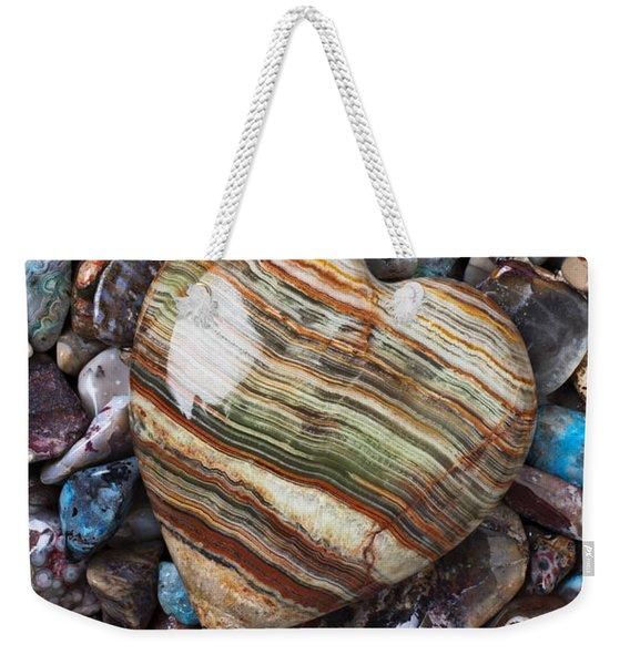 Heart Stone Weekender Tote Bag