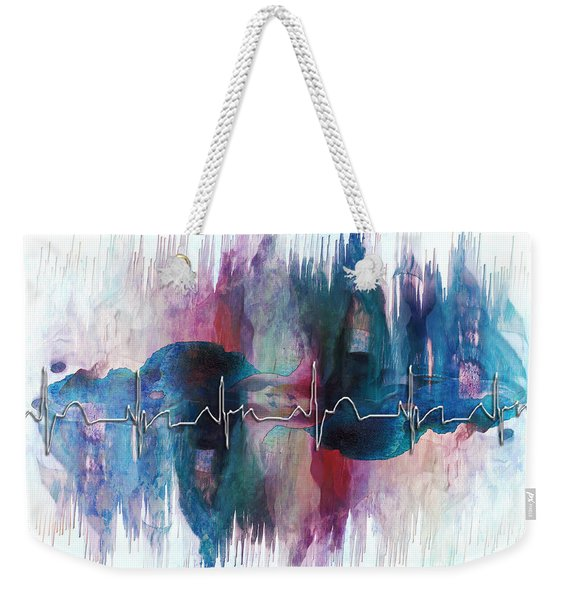 Heartbeat Drama Weekender Tote Bag