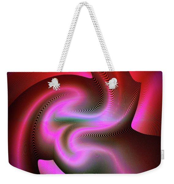 Weekender Tote Bag featuring the digital art Heartbeats by Visual Artist Frank Bonilla